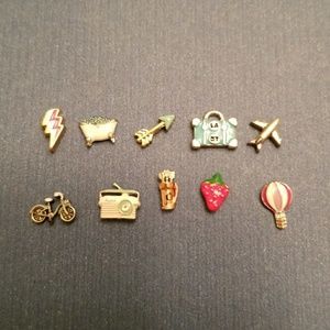 10 Origami Owl charms